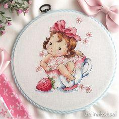 Baby Cross Stitch Patterns, Cross Stitch For Kids, Cross Stitch Boards, Cute Cross Stitch, Cross Stitch Fairy, Cross Stitch Rose, Learn Embroidery, Cross Stitch Embroidery, Monogram Cross Stitch