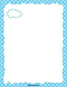 Printable cloud stationery and writing paper. Free PDF downloads at http://stationerytree.com/download/cloud-stationery/.