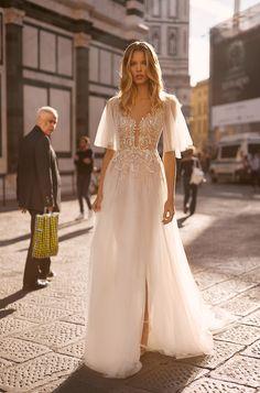 Wedding dresses 2020 V Neck Wedding Dress, Boho Wedding Dress, Bridal Dresses, Lace Wedding, Bridesmaid Dresses, Bride Gowns, Bridal Collection, Summer Wedding, Cute Dresses