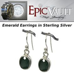 EPIC Emerald Earrings set in 925 Sterling Silver Studs #EPIC