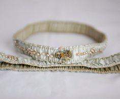 Vintage aqua silk