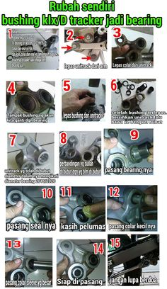 kawasaki klx140 front fork rebuild oil seal replacement slider blog seputar klx150 dan klx140