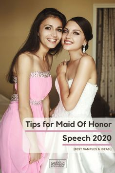 Best Tips for Maid Of Honor Speech Samples & Ideas ♥ Find here how to write the best maid of honor speech! Make your unforgettable with our 30 maid of honor speech examples, tips, quotes and toasts! Wedding Planning Tips, Wedding Tips, Wedding Day, Wedding Bride, Wedding Dresses, Maid Of Honor Toast, Maid Of Honor Speech, Best Wedding Toasts, Made Of Honor