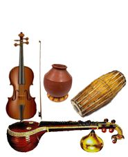 Carnatic Music Instruments- The one of the worlds oldest and richest musical tradition is Carnatic Music. There are basically 72 basic scales on the octave and best variety of melodic sounds.  http://onlinecarnaticisai.blogspot.ae/2012/01/introduction-to-carnatic-musics.html