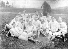 "V.A.M.C. Football Team, 1892 - The first ""Virginia Tech"" football team. Robert Wood Cowardin is pictured second from right."