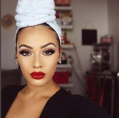 beauty makeup looks Beauty Makeup, Hair Makeup, Hair Beauty, Viva Glam Kay, Mode Turban, Curly Hair Styles, Natural Hair Styles, Headwraps For Natural Hair, Hair Wrap Scarf