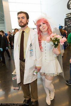 Dr. Algernop Krieger and Krieger's Virtual Girlfriend #cosplay (from Archer) | NYCC 2013