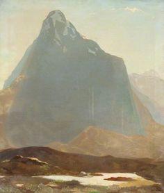 Eric Robertson (British, 1887-1941), Buachaille Etive Mhòr. Oil on canvas. Glasgow Museums.