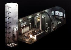Casa Bunker, Bunker Home, Underground Shelter, Underground Homes, Survival Shelter, Survival Prepping, Survival Gear, Cyberpunk, Building A Bunker