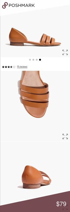 """Madewell brand new the leila sandal in leather PRODUCT DETAILS Sleek strappy sandals in rich leather. Easy as sneakers, with a timeless d'Orsay design that can do both weekend hangs and midweek dinners. When you select your size, """"H"""" equals a half size.  1/2"""" heel. Leather upper and lining. Man-made sole. Import. Item G2001. Madewell Shoes Sandals"""