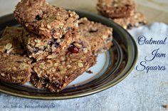 Oatmeal Jam Squares  #glutenfree #healthydessert #breakfastbars #houseofhealthy #vegan http://thehouseofhealthy.com/2015/01/13/oatmeal-jam-squares/