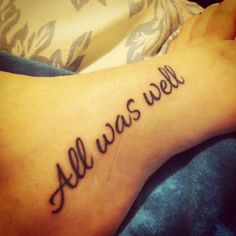all was well tattoo - Google Search