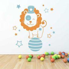 Sticker Chambre bébé Lion Cirque