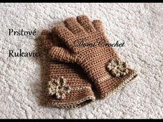 Háčkované prstové rukavice