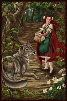 fairy tale faintings | Fairy Tale II Red Riding Hood by ~MBoulad on deviantART