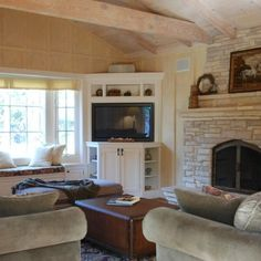 built in corner cabinet | Built-in Corner TV Furniture Cabinet Design Ideas, Pictures, ... | Ho ...