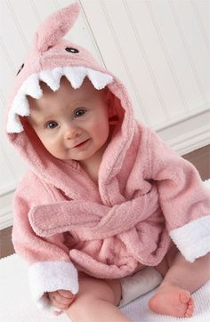 Baby Aspen 'Let the Fin Begin' Baby Robe http://rstyle.me/n/fz5jur9te