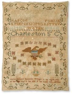 Inspiration for Civil War/Lincoln sampler--25 union stars above, 11 confed below eagle, etc?
