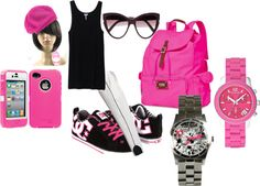 """Sportsy in Pink :)"" by pretty-shorty on Polyvore"