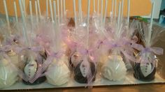 Bride and groom pops ready to go