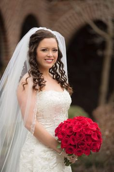 Red rose bridal bouquet by Doug Smith Designs & Events, photo by Wes Brown Photography!