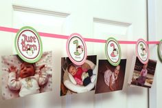 CUSTOMIZED - 0 months to 12 months photo banner picture holder- 1st year birthday party - Girl or Boy Themes - Design Your Own