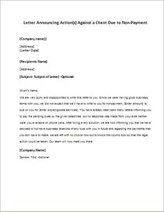 Price increase announcement letter to client writeletter2 letter announcing action against a client due to non payment price increaselettersletterletteringcalligraphy thecheapjerseys Choice Image