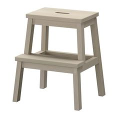 BEKVÄM Step stool - aspen - IKEA $29.90 The price reflects selected options Article Number : 502.255.92 Solid wood is a hardwearing natural material. Hand-hole in the top step makes the step stool easy to move.