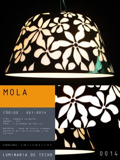 Luminaria de Techo modelo MOLA CÓDIGO : 001-0014 TIPO : Lámpara colgante SOCKET : E14  FOCO : 3 unidades de 60w c/u MATERIAL : Vidrio DIMENSIONES : 0.38 L x 0.38 A x 1.10 H