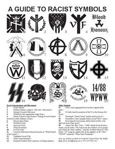 """madrantings: """" Keep yr eyes open. And remember, if you see folks with tattoos, car decals, or flags of these symbols or any other recognized white supremacist/neo-nazi/fascist symbols, GET PHOTOS OF THAT SHIT. I really cannot stress this enough. Make..."""