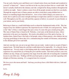 Letter To Child About Santa  I Think IM As Ready As IM Going To