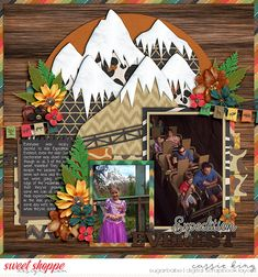 Using Remember the Magic – Animal Kingdom by Studio Flergs www.sweetshoppede… and Set Animal Kingdom template by Cindy Schneider www. Disney Scrapbook Pages, Travel Scrapbook, Scrapbook Paper Crafts, Disney Animal Kingdom Lodge, Disney Magic Kingdom, Scrapbook Layout Sketches, Scrapbooking Layouts, Disney Discounts, Scrapbook Background