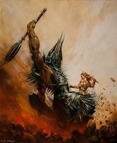 Morgoth and Fingolfin by Eric Velhagen