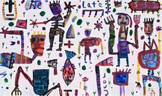 David Larwill Never Be Late 1997 Letter D, Australian Artists, Folk Art, Primitive, My Favorite Things, David, Illustration, Artwork, Painting