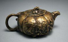 Chinese Bronze Tea Pot