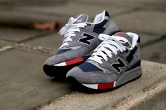 New Balance 998 - Grey / Navy / Red | Sneaker | Kith NYC