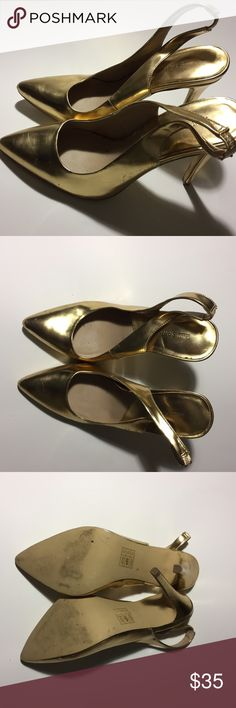 Call it Spring Gold Heels Size 9 Call it Spring Gold Heels Size 9 Call It Spring Shoes Heels