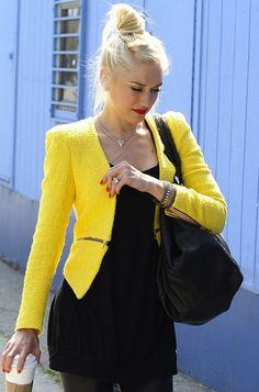 Love the yellow blazer!!