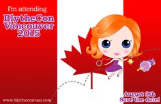 We are very pleased to invite you to the very first Canadian BlytheCon in 2015! BlytheCon Vancouver will be hosted in downtown Vancouver, British Columbia, Canada. BlytheCon Vancouver is on Sunday, August 9 2015 and will be held in the Pavilion Ballroom at the beautiful Sheraton Vancouver Wall Centre.