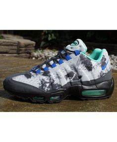reputable site 1a483 82b06 Cheap Air Max 95 Em Black Hyper Cobalt Mens Shoes Continue The Classic  Modeling Design, Breathable And Shockproof, Make An Order Now Enjoy  Discounts ...