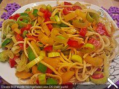 Asiatischer Spaghettisalat, ein leckeres Rezept aus der Kategorie Gemüse. Bewertungen: 50. Durchschnitt: Ø 4,0.