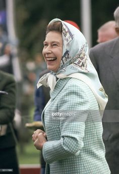 Queen Elizabeth II Laughing While Presenting Prizes At Polo At Guards Polo Club…