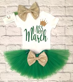 Baby Girl Clothes Miss March Bodysuit Little Miss от BellaPiccoli