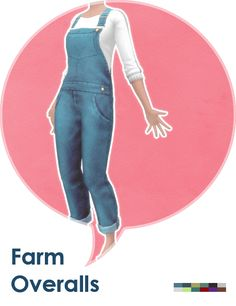 "lehgaming: "" Some overalls for farmer ladies: ◦ Teen to elder female. ◦ 6 colors. ◦ Outfit/overalls category. ◦ Basegame compatible. ◦ Random enabled. ◦ Get the PSD here for recolors. Download @ MediaFire Download @ SimFileShare """