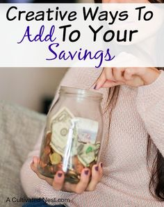 Finding the money to put in the savings account can be a challenge for many people. Here are several creative ways that you can add to your savings account.