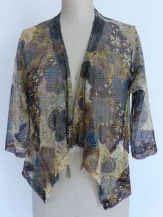 Marcy Tilton - March 2014 Newsletter--kimono with handkerchief hem...perfect if longer -even love the fabric colours