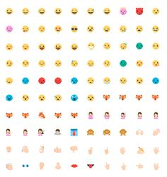 Mozilla Firefox OS Emoji Emoticons by Sabrina Smelko