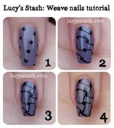 Woven nail tutorial