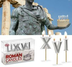 Roman numbers candles! :) this website has tons of fun gadgets!