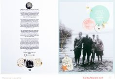 Your happy life (Member lift) by melanie louette at @studio_calico - two page large photo layout